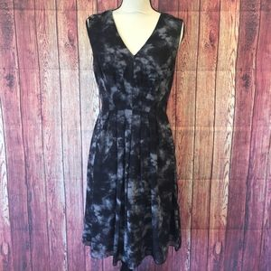 Coldwater Creek Black and Grey V-Neck Dress